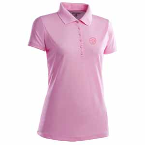Pittsburgh Steelers Womens Pique Xtra Lite Polo Shirt (Color: Pink) - Small