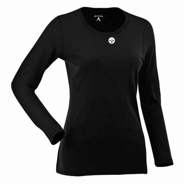 Pittsburgh Steelers Womens Relax Long Sleeve Tee (Team Color: Black)