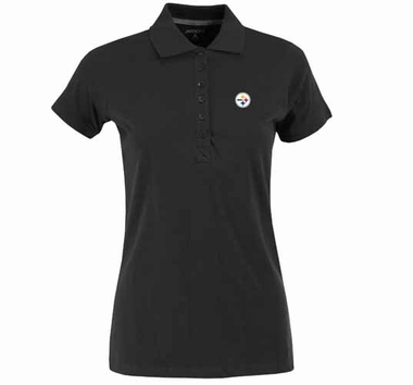 Pittsburgh Steelers Womens Spark Polo (Color: Black)