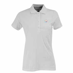 Pittsburgh Steelers Womens Spark Polo (Color: White) - X-Large