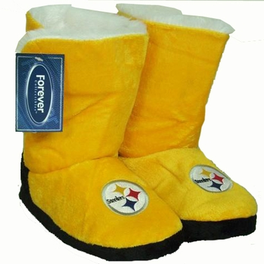 Pittsburgh Steelers Womens Team Color Boot Slippers