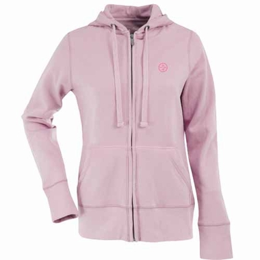 Pittsburgh Steelers Womens Zip Front Hoody Sweatshirt (Color: Pink)