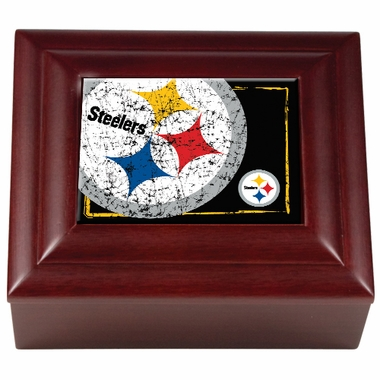 Pittsburgh Steelers Wooden Keepsake Box