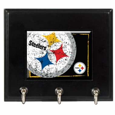 Pittsburgh Steelers Wooden Keyhook Rack