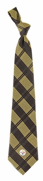 Pittsburgh Steelers Woven Plaid Necktie