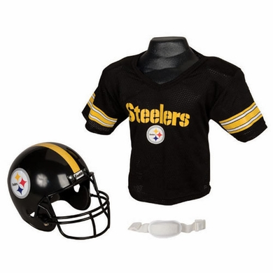 Pittsburgh Steelers Youth Helmet and Jersey Set