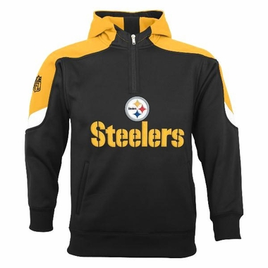 Pittsburgh Steelers YOUTH Kick Off 1/4 Zip Performance Hoody