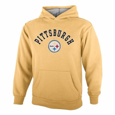 Pittsburgh Steelers YOUTH NFL Vintage Garment Washed Hooded Sweatshirt