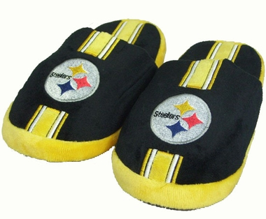 Pittsburgh Steelers YOUTH Team Stripe Slide Slippers