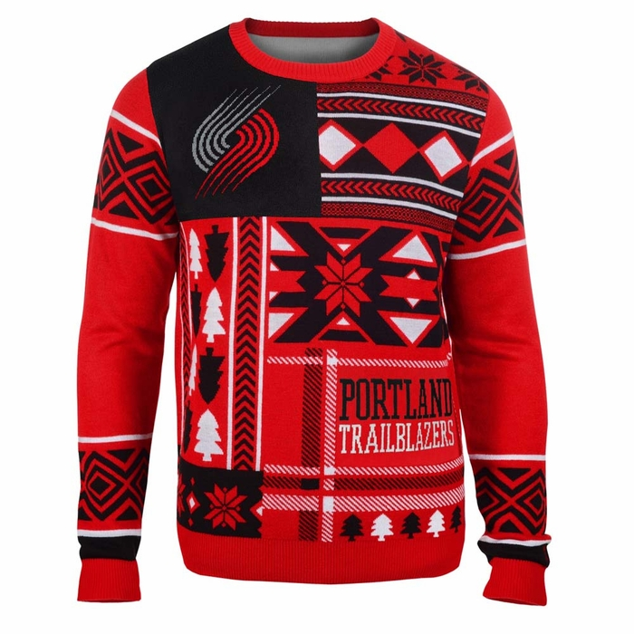 Portland Trail Blazers Mens Patches Ugly Sweater