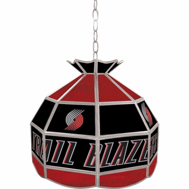 Portland Trailblazers 16 Inch Diameter Stained Glass Pub Light