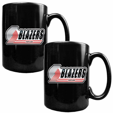 Portland Trailblazers 2 Piece Coffee Mug Set (Wordmark)