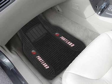 Portland Trailblazers 2 Piece Heavy Duty DELUXE Vinyl Car Mats