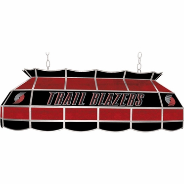 Portland Trailblazers 40 Inch Rectangular Stained Glass Billiard Light