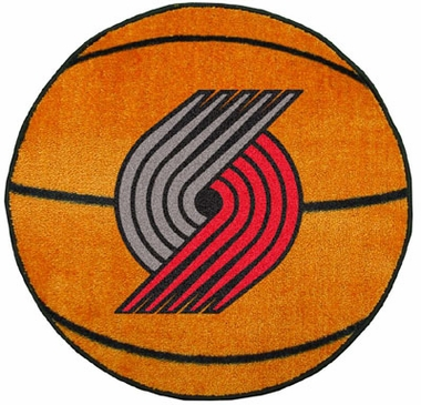 Portland Trailblazers Basketball Shaped Rug