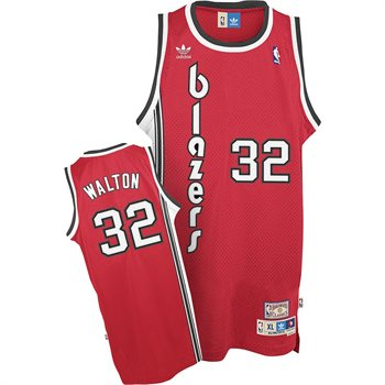Portland Trailblazers Bill Walton Adidas Team Color Throwback Replica Premiere Jersey