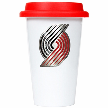 Portland Trailblazers Ceramic Travel Cup (Team Color Lid)