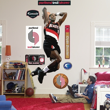 Portland Trailblazers Clyde Drexler Fathead Wall Graphic