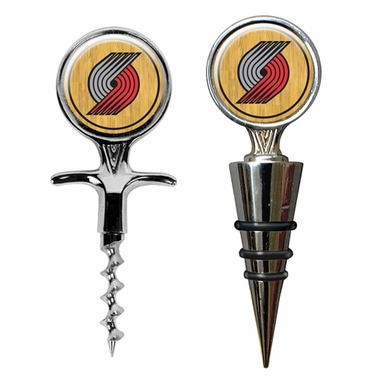 Portland Trailblazers Corkscrew and Stopper Gift Set