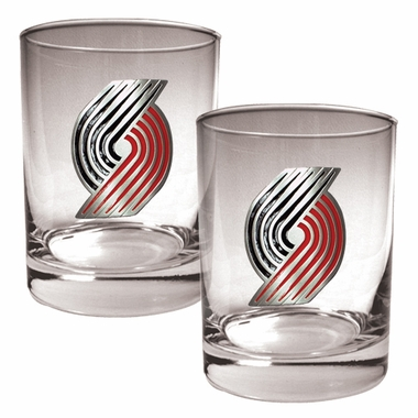 Portland Trailblazers Double Rocks Set