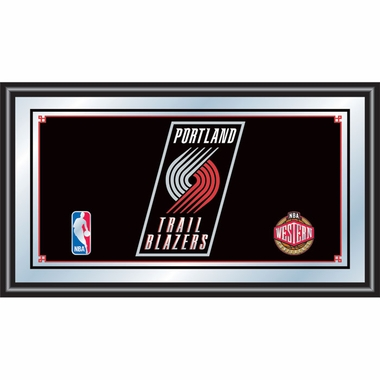 Portland Trailblazers Framed Logo Bar Mirror