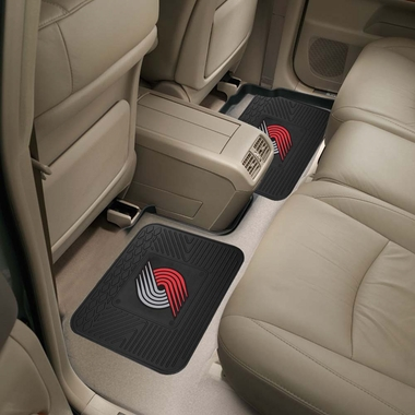 Portland Trailblazers SET OF 2 Heavy Duty Vinyl Rear Car Mats