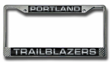 Portland Trailblazers Laser Etched Chrome License Plate Frame