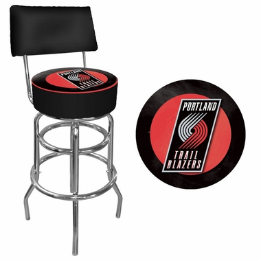 Portland Trailblazers Padded Bar Stool with Back