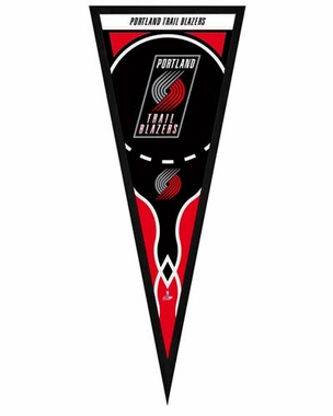 "Portland Trailblazers Pennant Frame -13"" x 33"" (No Glass)"