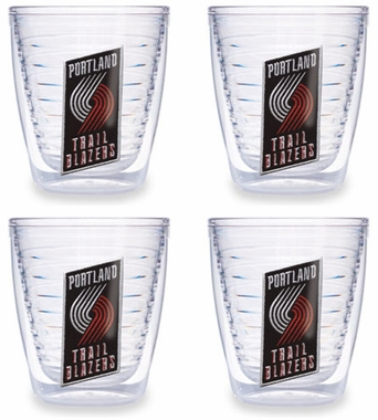 Portland Trailblazers Set of FOUR 12 oz. Tervis Tumblers