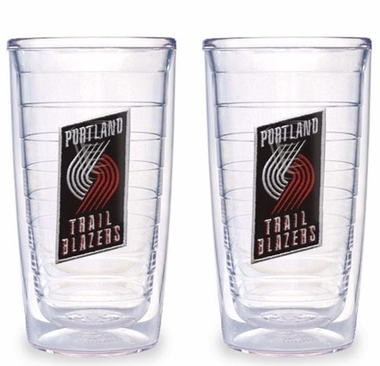 Portland Trailblazers Set of TWO 16 oz. Tervis Tumblers