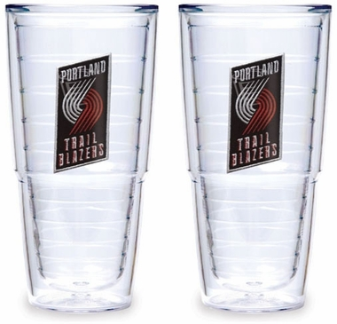 Portland Trailblazers Set of TWO 24 oz. Tervis Tumblers