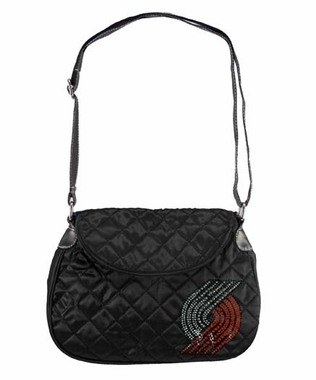 Portland Trailblazers Sport Noir Quilted Saddlebag