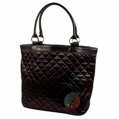 Portland Trailblazers Sport Noir Quilted Tote