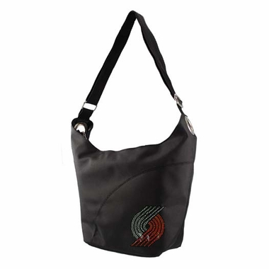 Portland Trailblazers Sport Noir Sheen Hobo Purse