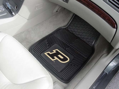 Purdue 2 Piece Heavy Duty Vinyl Car Mats