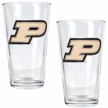 Purdue 2 Piece Pint Glass Set