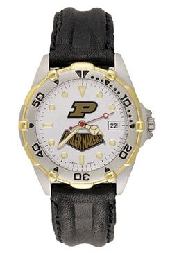 Purdue All Star Mens (Leather Band) Watch