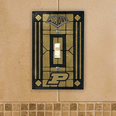 Purdue Art Glass Lightswitch Cover