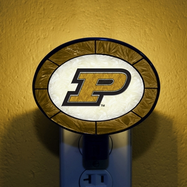 Purdue Art Glass Night Light