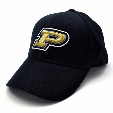 Purdue Black Premium FlexFit Baseball Hat