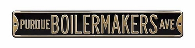Purdue Boilermakers Ave Street Sign