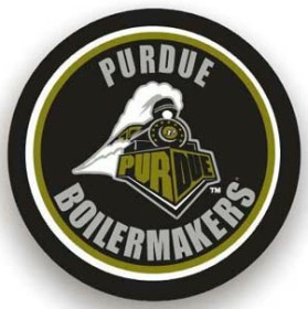 Purdue Boilermakers Black Spare Tire Cover (Small Size)