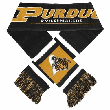 Purdue Boilmakers 2012 Team Stripe Knit Scarf