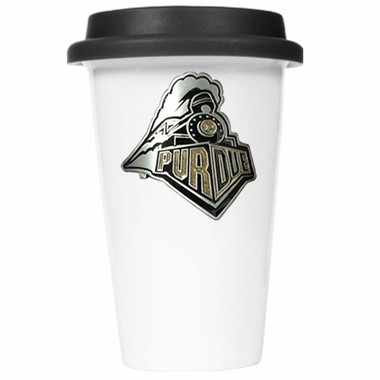 Purdue Ceramic Travel Cup (Black Lid)