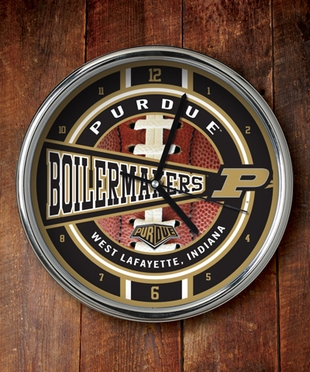 Purdue Chrome Clock