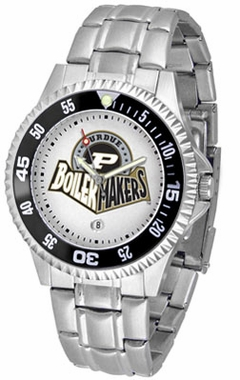 Purdue Competitor Men's Steel Band Watch