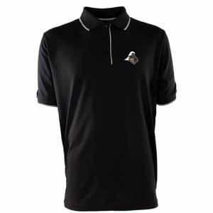 Purdue Mens Elite Polo Shirt (Color: Black) - Small