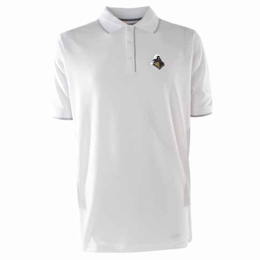 Purdue Mens Elite Polo Shirt (Color: White)