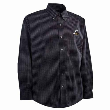 Purdue Mens Esteem Button Down Dress Shirt (Team Color: Black)